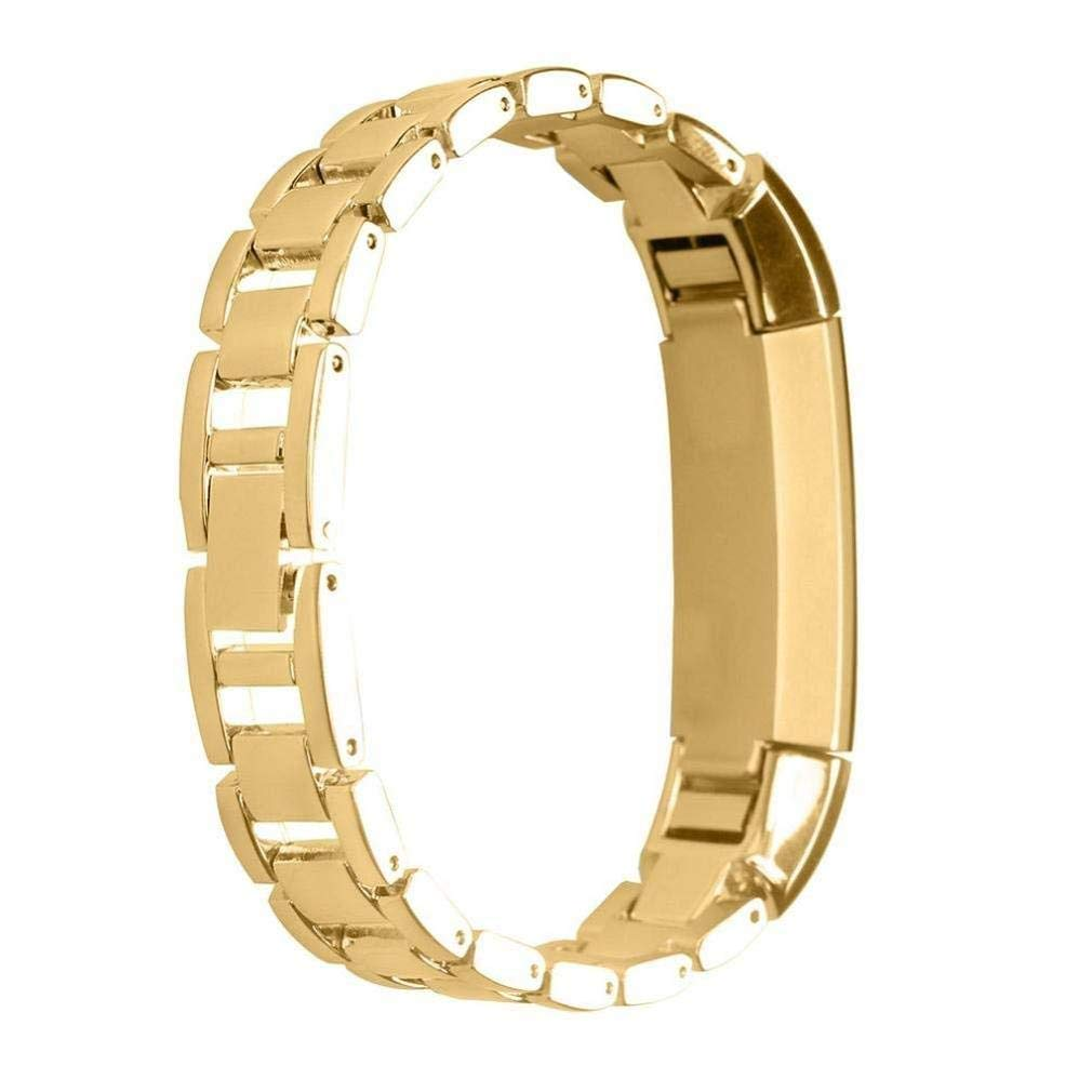 Fashion Clearance! Noopvan Fitbit alta Strap Metal,Adjustable Stainless Steel Band,Classic Replacement Bracelet for Fitbit Alta (Gold)