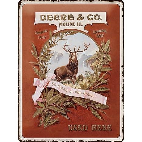 Amazon.com: Cartel de chapa 11.8 x 15.7 inch – john deere ...
