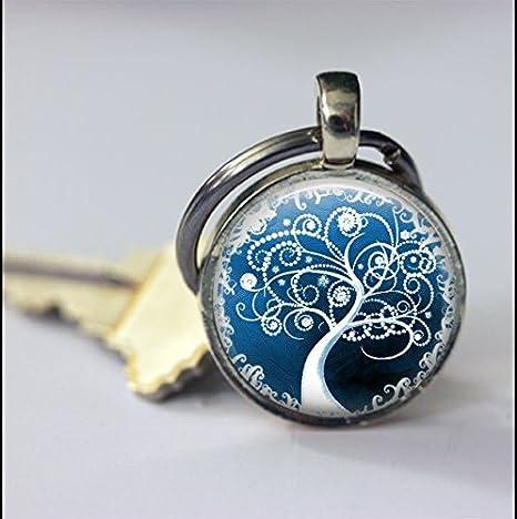 Llavero de árbol de la vida, imagen de árbol de arte, regalo ...