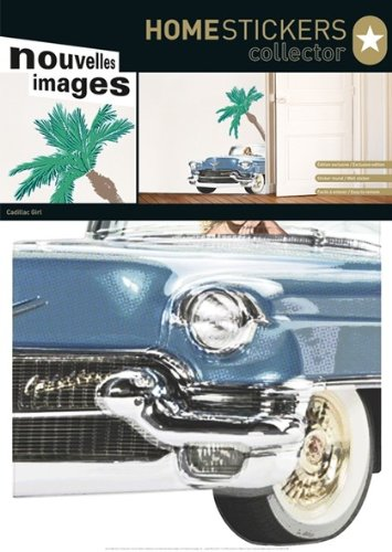 Home Stickers HOST 1463 Cadillac Girl Decorative Wall Stickers