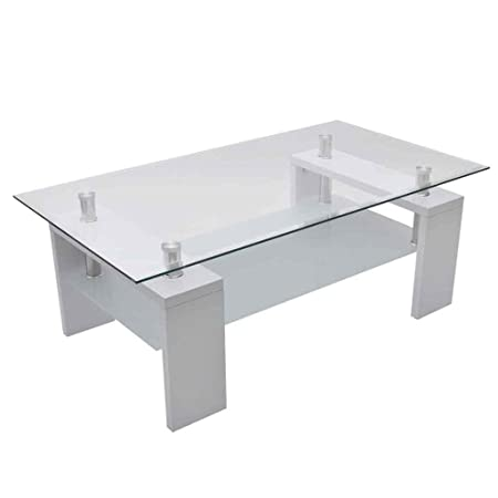 High Gloss White Coffee Table Amazoncouk Kitchen Home