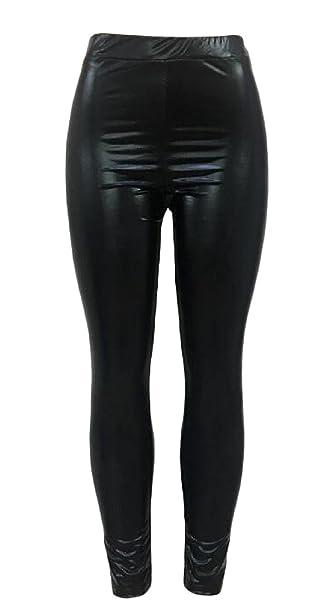 27bdd88b9030b3 CMCYY Women's Skinny Pencil Pants Faux Leather Matte Butt Lifter Tight  Leggings Black X-Small