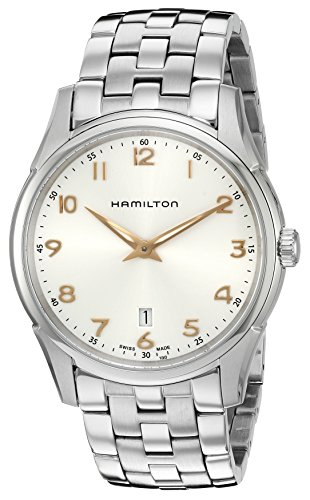 Hamilton Men's H38511113 Jazzmaster Thinline Quartz Stainless Steel  Watch, Silver-Toned