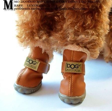Amazon.com   Colorfulhouse DOG Australia Winter Warm Dog Boots 4 Pcs  (Chocolate 8f2d21efb570