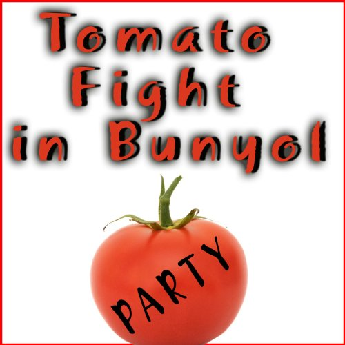 Tomato Fight in Bunyol. Tomatina. Spain Party (Fiesta Tomatoes)