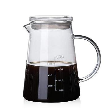 1200 ml Tetera y jarra de café con tapa de cristal, tetera de ...