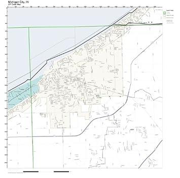 Amazon.com: ZIP Code Wall Map of Michigan City, IN ZIP Code Map Not ...