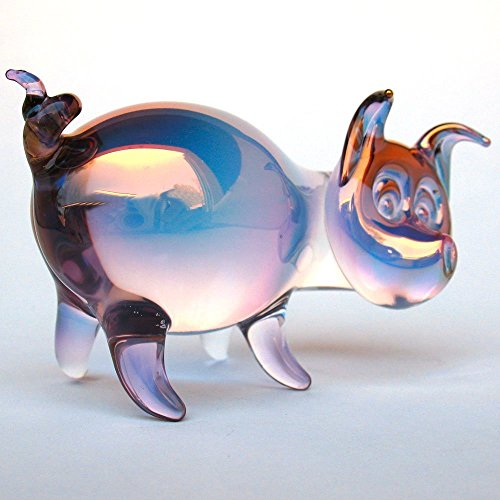 Pig Figurine of Hand Blown Glass