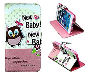 """iphone 6 Case (4.7""""""""), New Baby Owl Quotes PU Leather Cover Credit Card Slot Holder Wallet Phone Case With Stand W Screen Protector --Retail Package --Pink"""