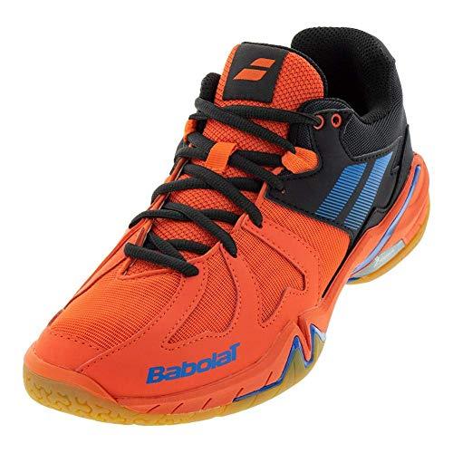 Babolat Mens Shadow Spirit Tennis/Badminton/Racquetball/Squash Indoor Court Shoes, Black/Red (9 US)