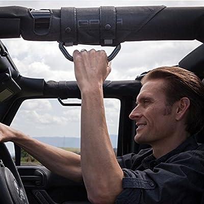 GPCA Metal Grab Handle - GP-Grip LITE for Jeep Wrangler JL JT JK Sport Sahara Freedom Rubicon 4DR 2DR 2007-2020 with 3