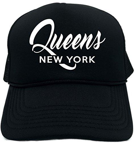 Funny Trucker Hat (Queens New York (city state) Unisex Adult Foam (Queen Trucker Hat)