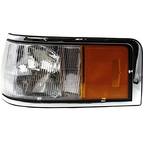 Corner Light compatible with Lincoln Lincoln Town Car 90-94 Corner Lamp LH Lens and Housing Left Side ()