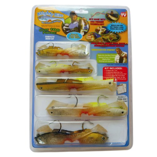 freefisher mighty bite 5 sense soft plastic fishing lures