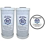 Whirlpool WHKF-WHPCBB Compatible Filters, 4.5 x 9.75 Inch Carbon Water Filter Cartridges (2) with WS03X10039 Oring Compatible with WHKF-DWHBB (1)
