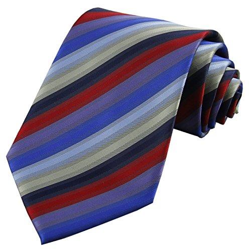 Color Silk Red Striped Length Inch Wedding Tie berite Blue D 100 Men's Neckties 58 wPfYqaPg1x