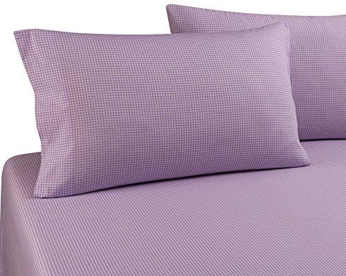 DELANNA Pillowcases, 100% Cotton Percale Weave Standard Size 20