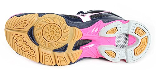Mizuno Wos Peacoat Wave Volleyball Femme Bolt Chaussures Mid White Black de rxrZqnw