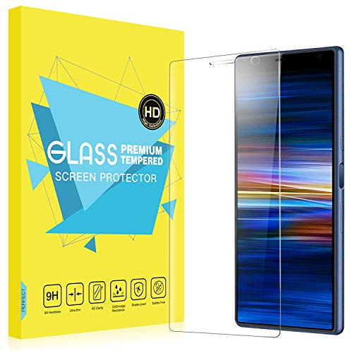 MoKo Compatible with Sony Xperia 10 Plus Screen Protector, [Case Friendly] 9H Hardness Ultra Clear Tempered Glass Film for Sony Xperia 10 Plus Screen Protector 6.5 inch 2019 - Clear