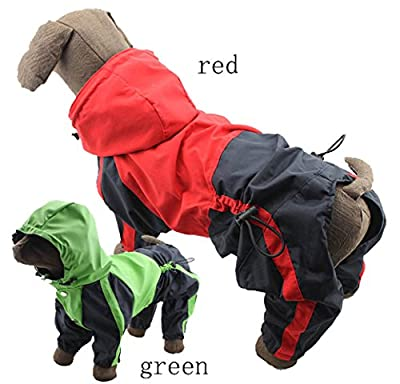 Pet Apparel Dog Clothing Clothes Rain Snow Coats Waterproof Raincoats 4 Four Legs Raincoat for Small Medium Large Big Size Dogs Adorable Hoodie Costumes for Golden Retriever Labrador Chihuahua Poodle by lovelonglong