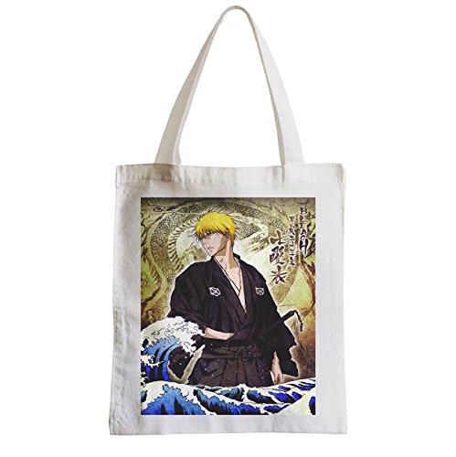 Grande Borsa Shopping Spiaggia Studente Candeggina Ichigo Kurosaki Onde Hokusai Japan Manga