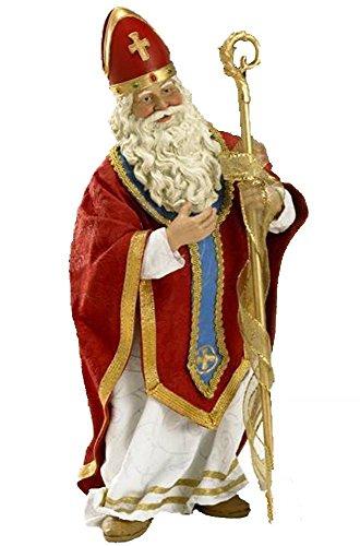 Retired 2009 Kurt Adler Fabriche *Spirited Santa Bishop/Cardinal (Cardinals Santa)