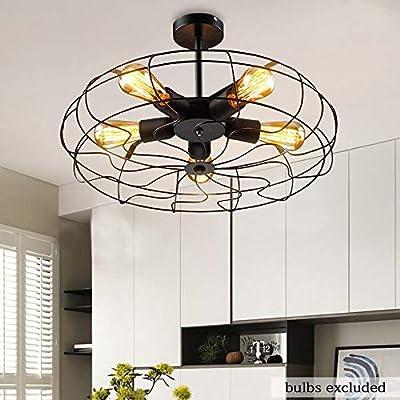 Luz de techo de ventilador de estilo industrial Ventilador de ...
