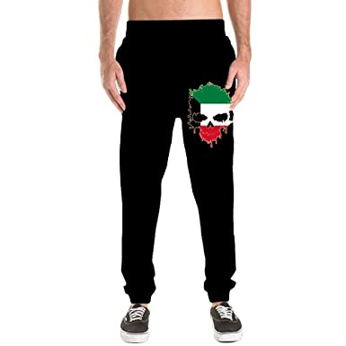 Nm45kL&KU Men's Fit Sweatpant, 100% Cotton Kuwait Skull