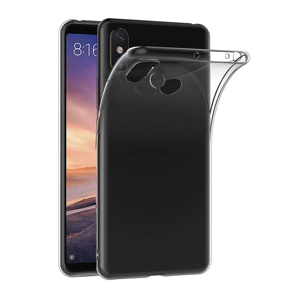 AICEK Funda Xiaomi Mi MAX 3, Transparente Silicona Fundas para ...