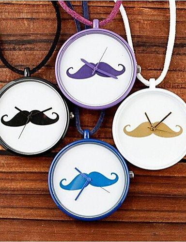 Sbsghdx® affandi barba Reloj de caramelos de colores cuadro largo Collar: Amazon.es: Relojes