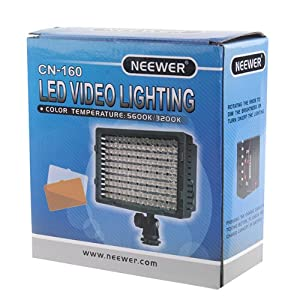 NEEWER 160 LED CN-160 Dimmable Ultra High Power Panel Digital Camera / Camcorder Video Light by Neewer