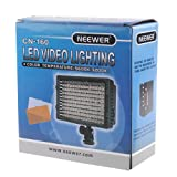 NEEWER 160 LED CN-160 REGULABLE PODER ULTRA ALTO PANEL CÁMARA DIGITAL/videocámara Video Light, luz LED para Canon, Nikon, Pentax, Panasonic, SONY, Samsung y Olympus Digital SLR Cameras