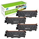 AZTECH 4 Pack 2,600 Page Yield Black Compatible Brother TN-660 TN660 TN 660 TN630 TN-630 Toner Cartridge For Brother MFC-L2700DW MFC-L2740DW HL-L2340DW HL-L2300D DCP-L2540DW DCP-L2520DW Printer