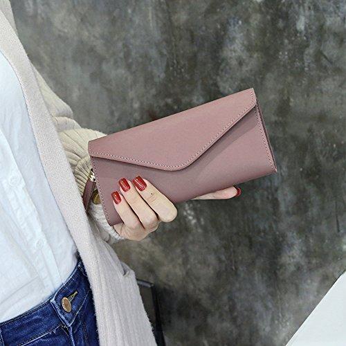 Donna Pelle moneta porta Rosa borsetta portafoglio frizione carte Nappa Lungo 5qRU4wf