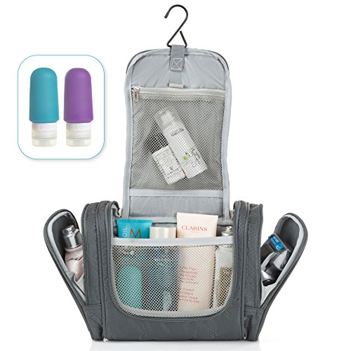 MOJO Hanging Toiletry Bag + Silicone Bottles Set - Premium Q
