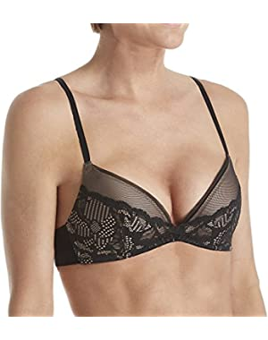 Underwear Women's Linger Plunge Push Up Bra