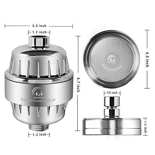 Luxury Filtered Shower Head Set (Metal) Cartridge Vitamin C + Multi-Stage Shower Water Filter - Universal Shower System - Filters Helps Dry Skin & Hair Loss - Removes Chlorine & Sediments by AquaHomeGroup (Image #6)