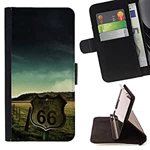 Jordan Colourful Shop - Route 66 US USA For Apple Iphone 5C - Leather Case Absorci???¡¯???€????€???????????&AE