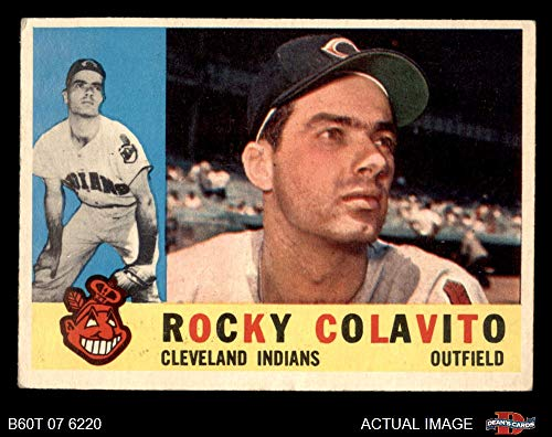 - 1960 Topps # 400 Rocky Colavito Cleveland Indians (Baseball Card) Dean's Cards 4 - VG/EX Indians