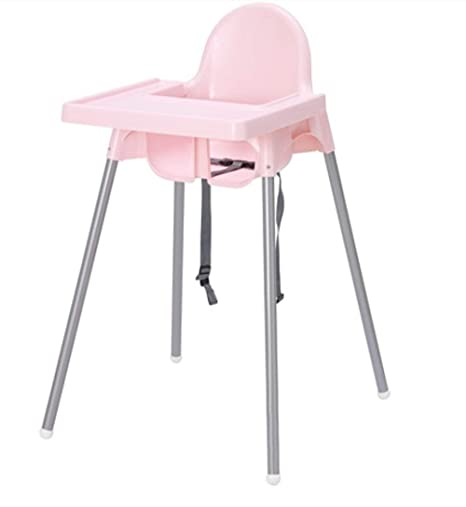 WhiteSilver Colour Ikea Antilop Highchair with Tray Safety