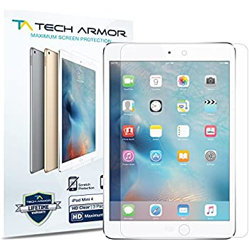 iPad Mini 4 Screen Protector, Tech Armor High Definition HD-Clear Apple iPad Mini 4 Film Screen Protector [3-Pack]