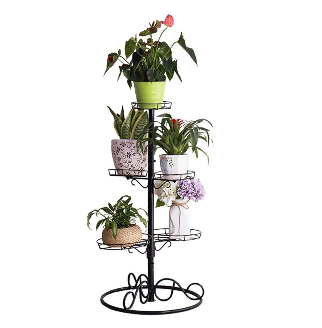 RUIMA Vaso da Fiori in Ferro Stand a più Strati Vaso per Piante in Vaso da Terra