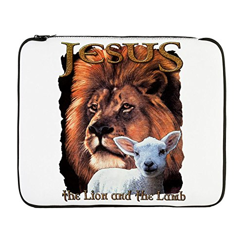 17 Inch Laptop Sleeve Jesus The Lion And The Lamb