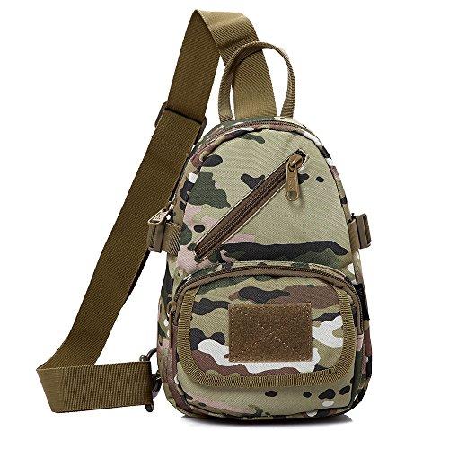 emansmoer Camo Armee Brusttasche Sling Bag Umhängetasche Crossbody Rucksack Outdoor Schultertasche Casual Daypack (Camo) CP