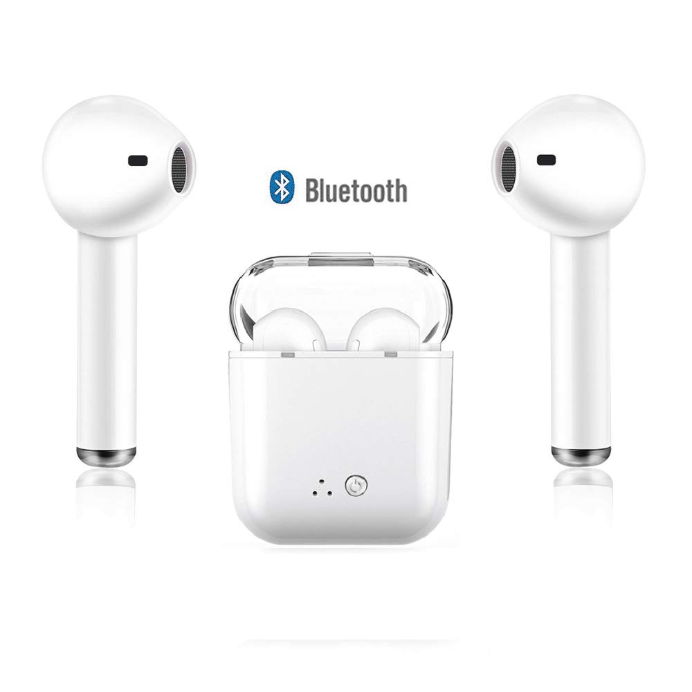 Bluetooth 5.0 Wireless Earbuds Future Wireless Bluetooth Headphones with 18H Playtime HiFi Stereo Sound Quality IPX5 Waterproof Bluetooth Earbuds with Portable Charging Case Built-in Mic