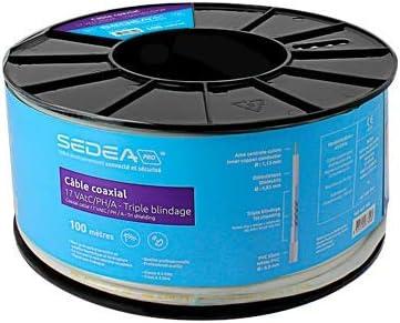 HDSAT Cable Coaxial 17 vatc/PH/A – Triple apantallamiento Bobina ...