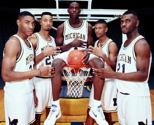 Fab Five Michigan Hd Photo Poster Basketball Player #01