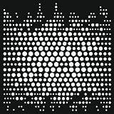 Creative Expressions - Estarcido para fabricación de papel, diseño de puntos, color beige
