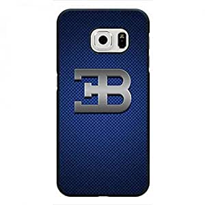 Bugatti Car Logo Funda Cover Samsung Galaxy S6Edge Phone Funda Hard Plastic Funda Skin