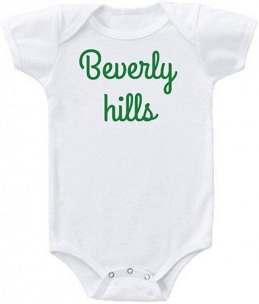 Promini Beverly Hills California Los Ángeles Diseño Verde Humor Love Cute Baby Onesie Regalo Novedad Tshirt Disfraz Bebé Body